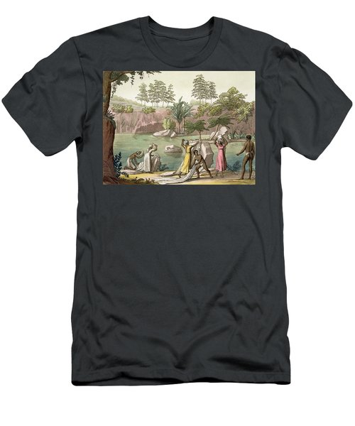 River Near San Benedetto, Madagascar Men's T-Shirt (Athletic Fit)