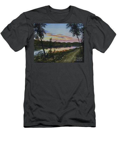 River Sunset Men's T-Shirt (Slim Fit) by Martin Howard