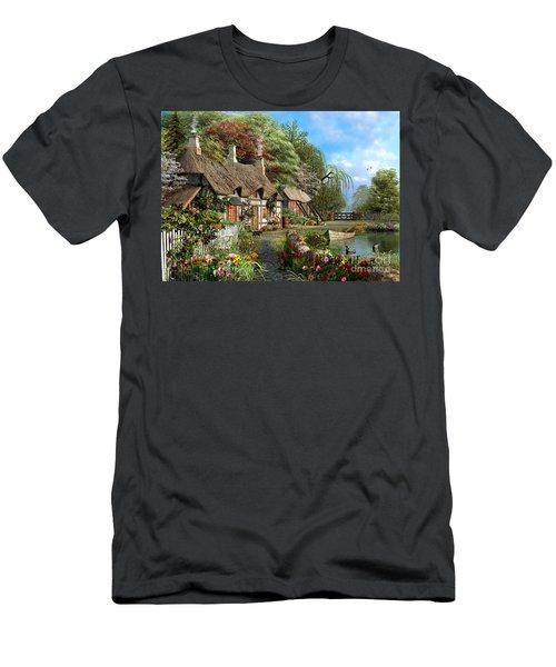 Riverside Home In Bloom Men's T-Shirt (Athletic Fit)