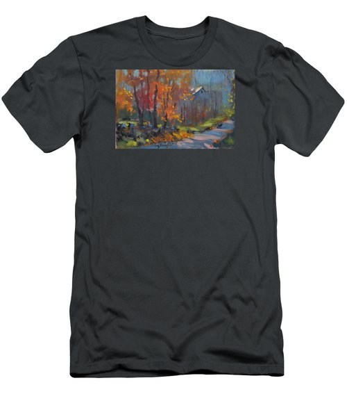 Men's T-Shirt (Slim Fit) featuring the painting Road South by Len Stomski