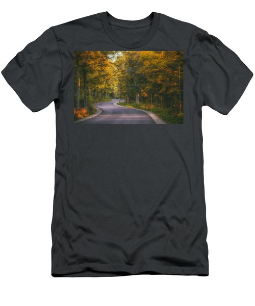 Road To Cave Point Men's T-Shirt (Athletic Fit)