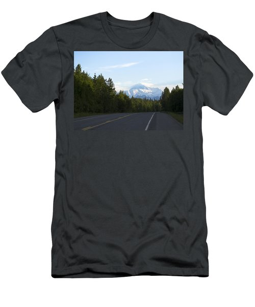Road To Denali  Men's T-Shirt (Slim Fit) by Tara Lynn