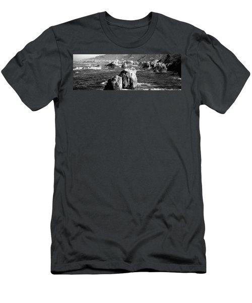 Rock Formations On The Beach, Big Sur Men's T-Shirt (Athletic Fit)