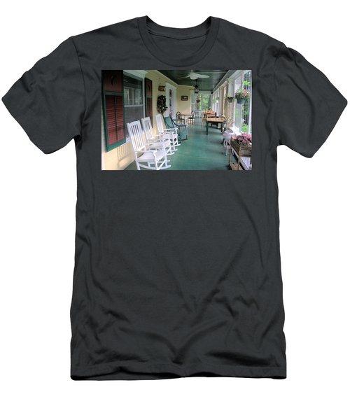Rockers On The Porch Men's T-Shirt (Slim Fit) by Gordon Elwell