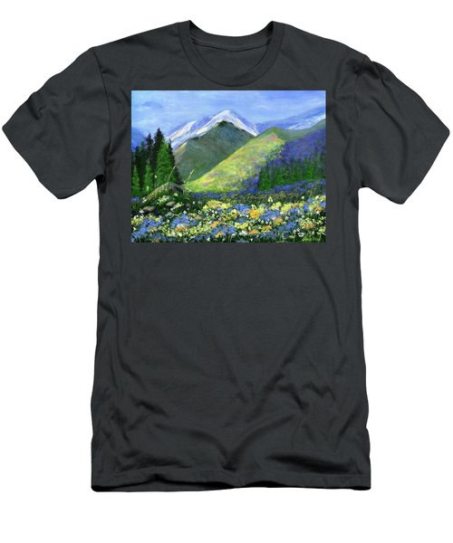 Rocky Mountain Spring Men's T-Shirt (Athletic Fit)