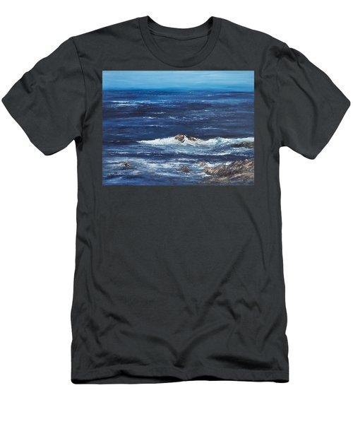Rocky Shore Men's T-Shirt (Slim Fit) by Valerie Travers