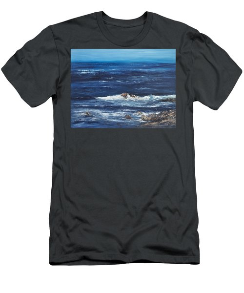 Rocky Shore Men's T-Shirt (Athletic Fit)