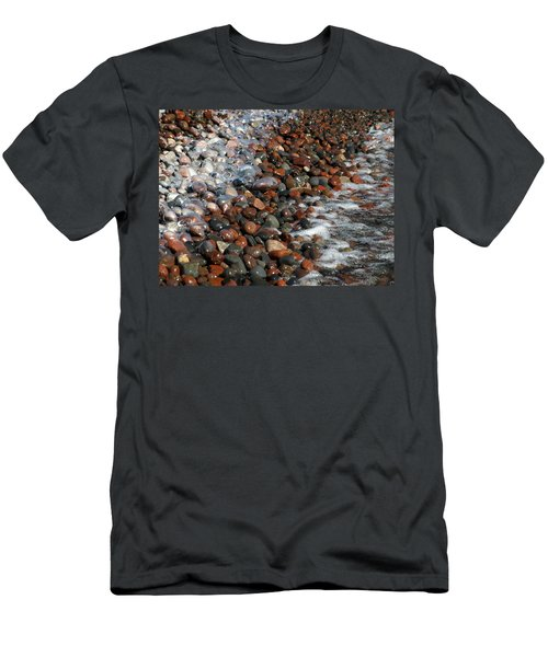 Rocky Shoreline Abstract Men's T-Shirt (Athletic Fit)