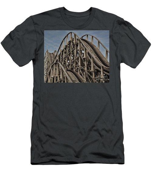 Roller Coaster Men's T-Shirt (Athletic Fit)