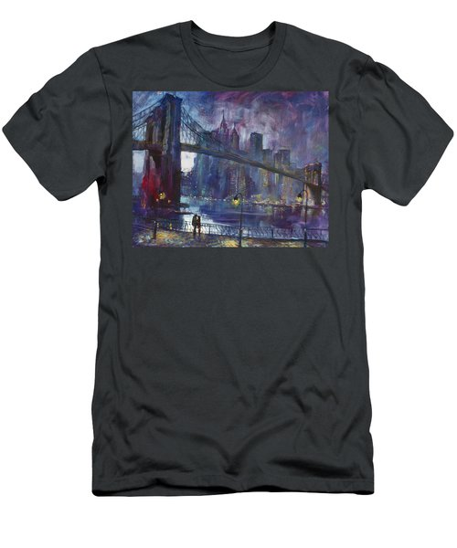 Romance By East River Nyc Men's T-Shirt (Athletic Fit)