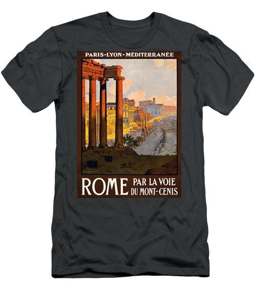 Rome Par La Voie Du Mont-cenis Men's T-Shirt (Athletic Fit)