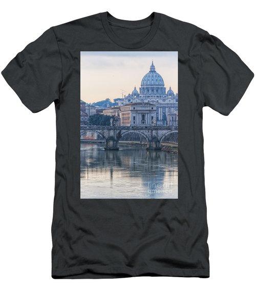 Rome Saint Peters Basilica 02 Men's T-Shirt (Slim Fit) by Antony McAulay