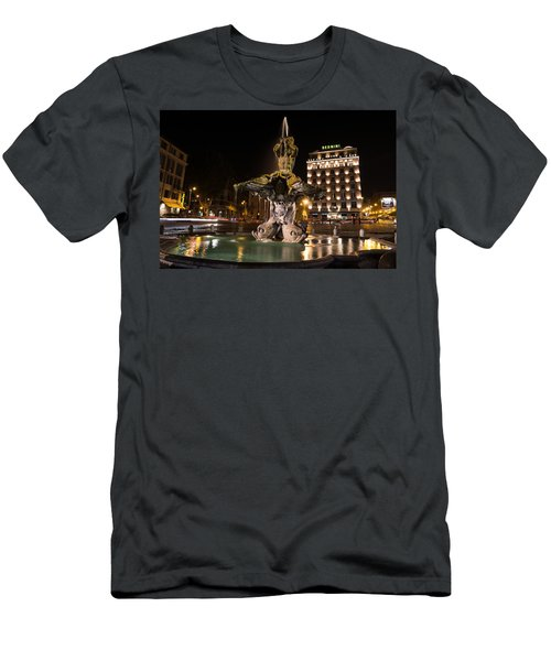 Rome's Fabulous Fountains - Bernini's Fontana Del Tritone Men's T-Shirt (Athletic Fit)