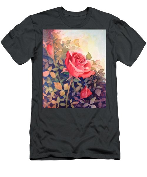 Rose On A Warm Day Men's T-Shirt (Athletic Fit)