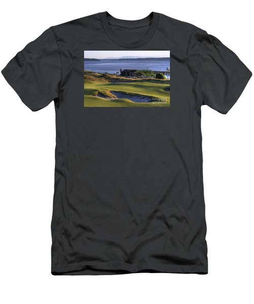 Hole 17 Hdr Men's T-Shirt (Slim Fit) by Chris Anderson