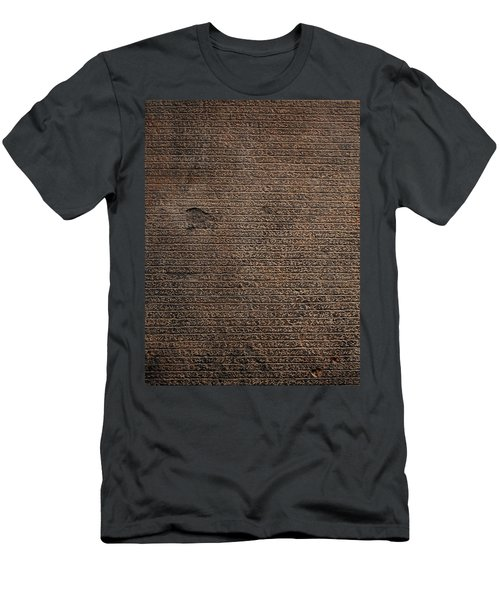 Rosetta Stone Texture Men's T-Shirt (Athletic Fit)
