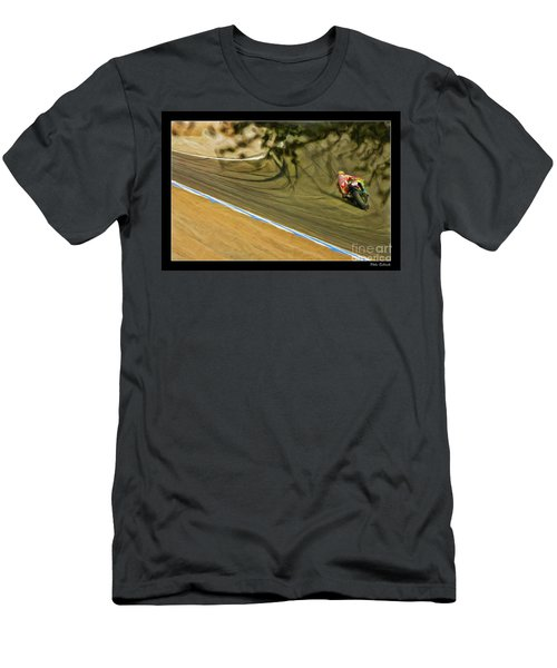Rossi Though The Trees  Men's T-Shirt (Athletic Fit)