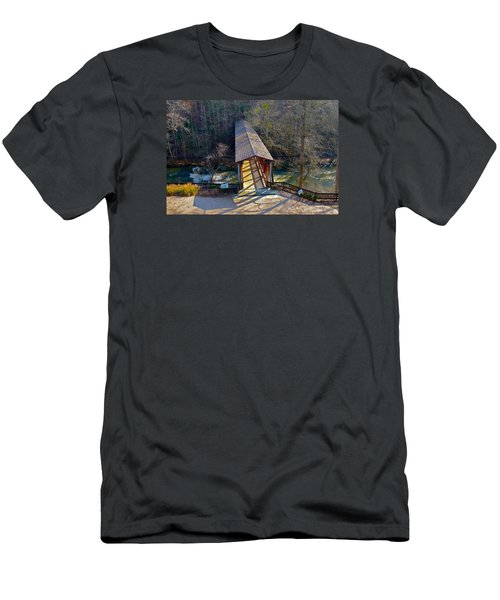 Roswell Covered Bridge Men's T-Shirt (Athletic Fit)