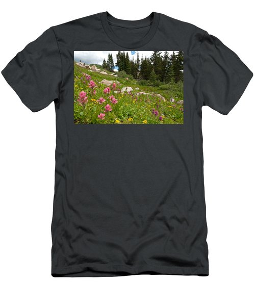 Rosy Paintbrush And Trees Men's T-Shirt (Athletic Fit)