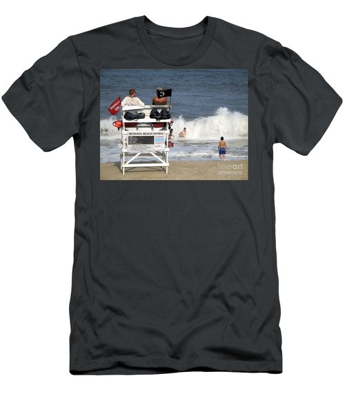 Rough Water At Bethany Beach In Delaware  Men's T-Shirt (Athletic Fit)