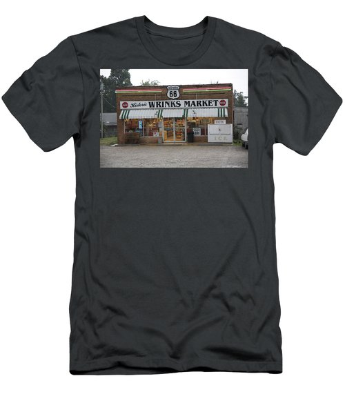 Route 66 - Wrink's Market Men's T-Shirt (Athletic Fit)
