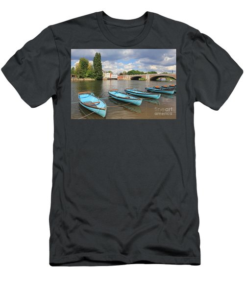 Rowing Boats At Hampton Court Men's T-Shirt (Athletic Fit)