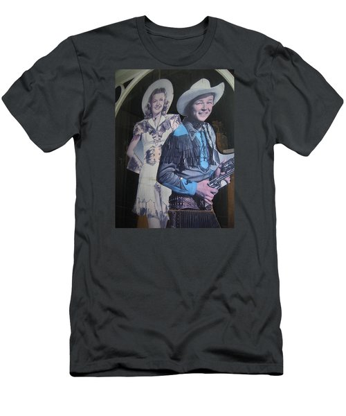 Roy Rogers And Dale Evans #2 Cut-outs Tombstone Arizona 2004 Men's T-Shirt (Athletic Fit)