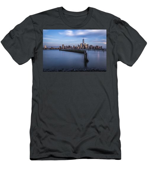 Men's T-Shirt (Athletic Fit) featuring the photograph Royal Blue by Johnny Lam