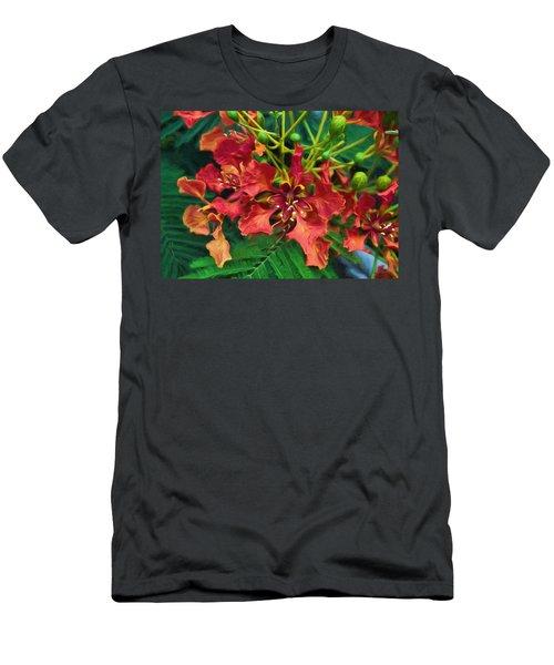 Royal Ponciana Men's T-Shirt (Athletic Fit)