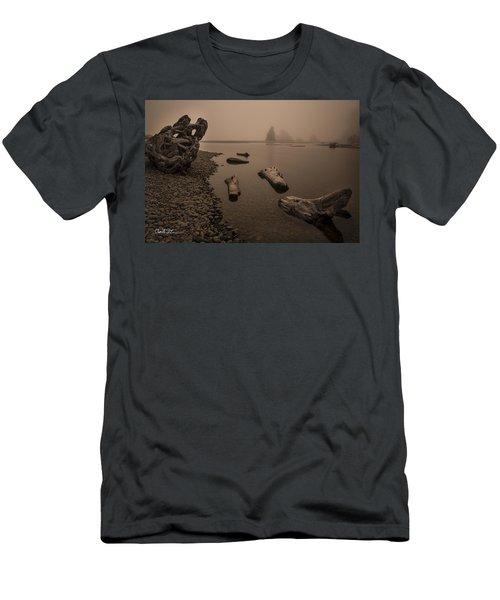 Ruby Beach Fog Men's T-Shirt (Athletic Fit)