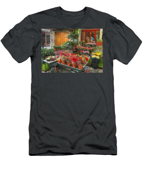 Rue Cler Flower Shop Men's T-Shirt (Athletic Fit)