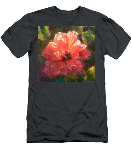 Ruffled Light Double Hibiscus Flower Men's T-Shirt (Athletic Fit)