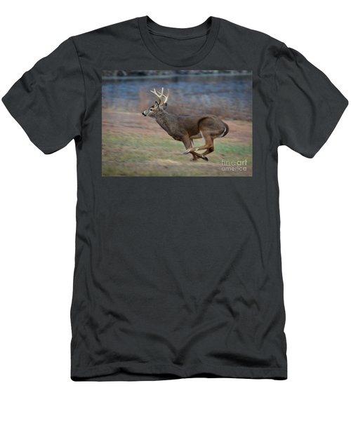 Running Buck Men's T-Shirt (Slim Fit) by Amy Porter