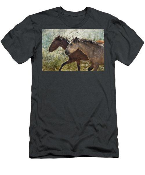 Running Free - Pryor Mustangs Men's T-Shirt (Athletic Fit)