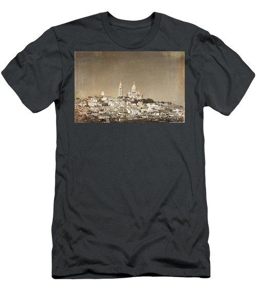 Sacre Coeur Basilica Of Montmartre In Paris Men's T-Shirt (Athletic Fit)