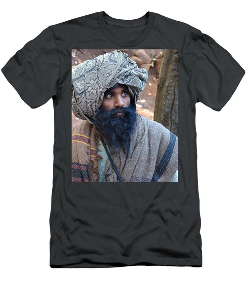 Sadhu At Amarkantak India Men's T-Shirt (Athletic Fit)