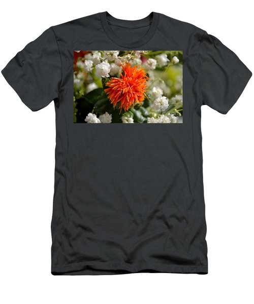 Safflower Amongst The Gypsophilia Men's T-Shirt (Athletic Fit)