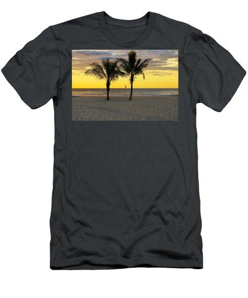 Sail Away At Dawn Men's T-Shirt (Athletic Fit)