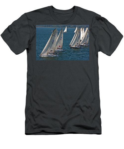Sailboats In Swan Nyyc Invitational Men's T-Shirt (Athletic Fit)