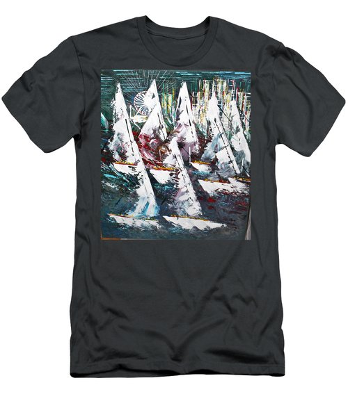Sailing With Friends - Sold Men's T-Shirt (Athletic Fit)
