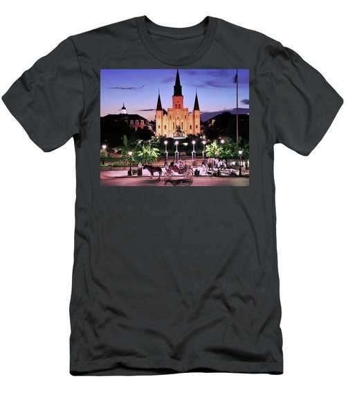 Saint Louis Cathedral New Orleans Men's T-Shirt (Slim Fit) by Allen Beatty
