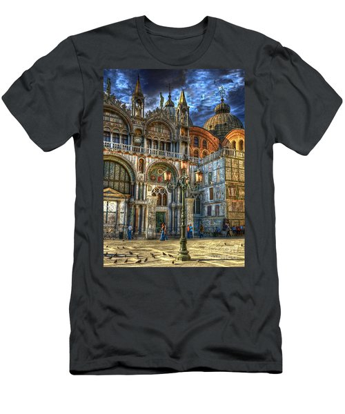 Men's T-Shirt (Slim Fit) featuring the photograph Saint Marks Square by Jerry Fornarotto