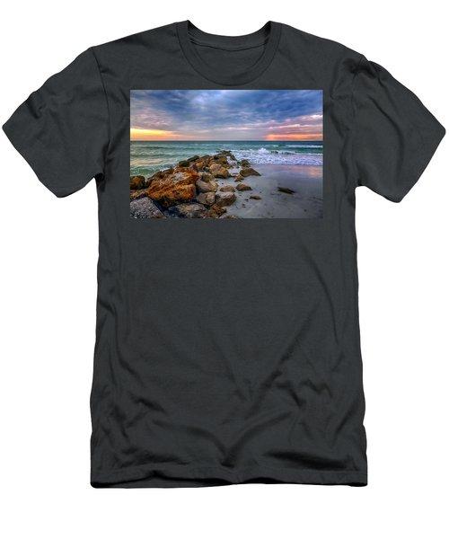 Saint Pete Beach Stormy Sunset Men's T-Shirt (Athletic Fit)