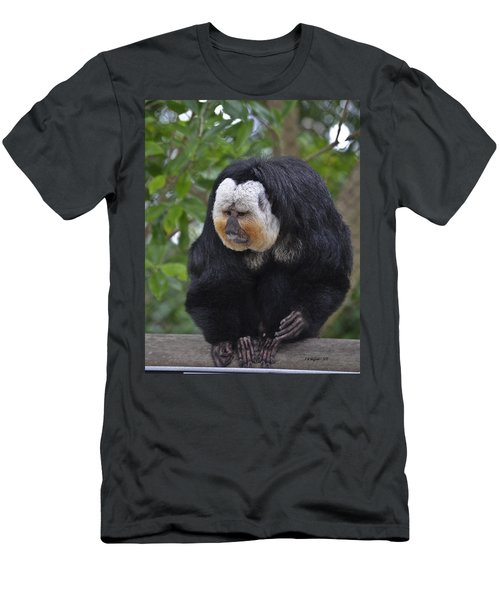 Saki Monkey Men's T-Shirt (Athletic Fit)