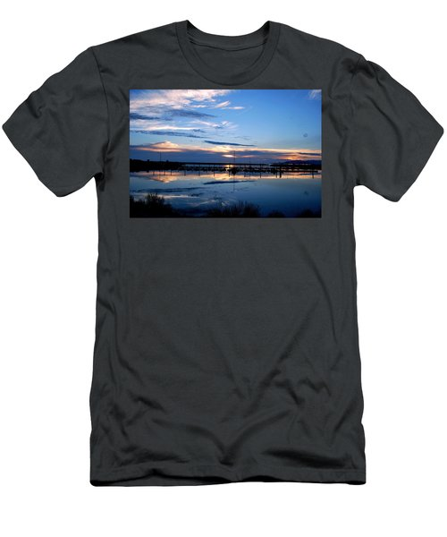 Salt Lake Marina Sunset Men's T-Shirt (Slim Fit) by Matt Harang