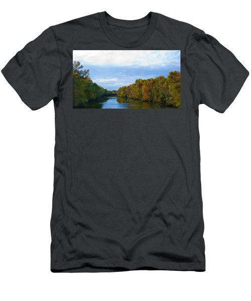 Saluda River In The Fall Men's T-Shirt (Athletic Fit)