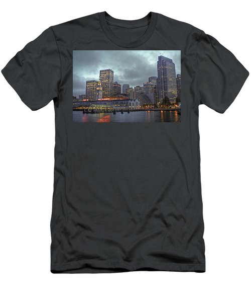 San Francisco Port All Lit Up Men's T-Shirt (Athletic Fit)