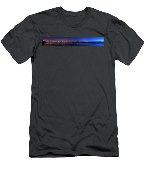 San Francisco Dusk Panorama Men's T-Shirt (Athletic Fit)