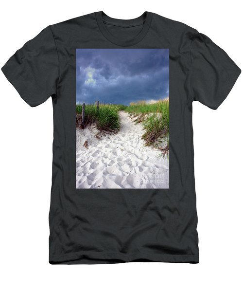 Sand Dune Under Storm Men's T-Shirt (Athletic Fit)