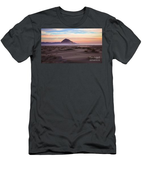 Sand Dunes At Sunset At Morro Bay Beach Shoreline  Men's T-Shirt (Athletic Fit)